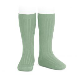 Condor Rib Knee High Socks Sage