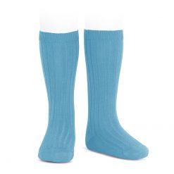 Condor Rib Knee High Socks Sapphire