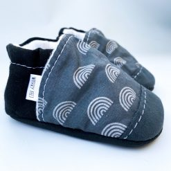 Pewter Rainbow low-rise baby shoes